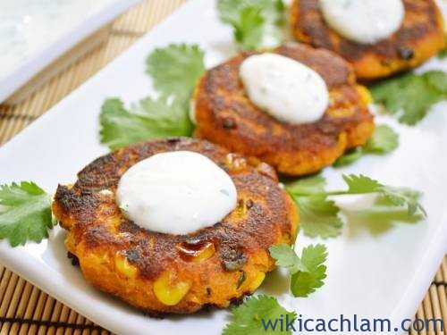Sweet Potato Corn Cakes sauce